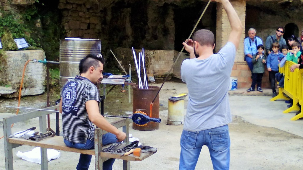 Mestres vidriers valencians. Foto Ajuntament Vimbodí i Poblet